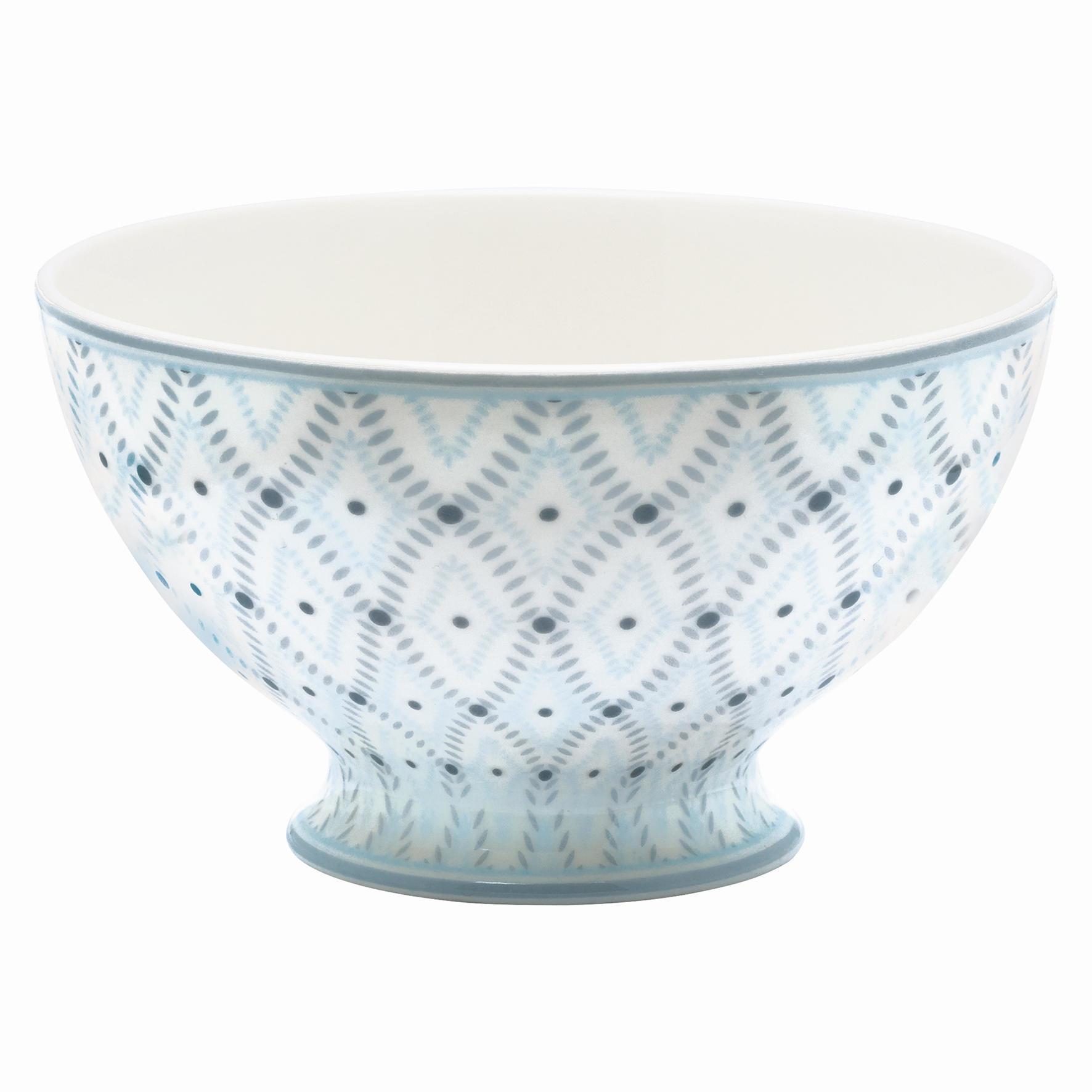 GREEN GATE Polévková miska Elsa sand, modrá barva, šedá barva, porcelán