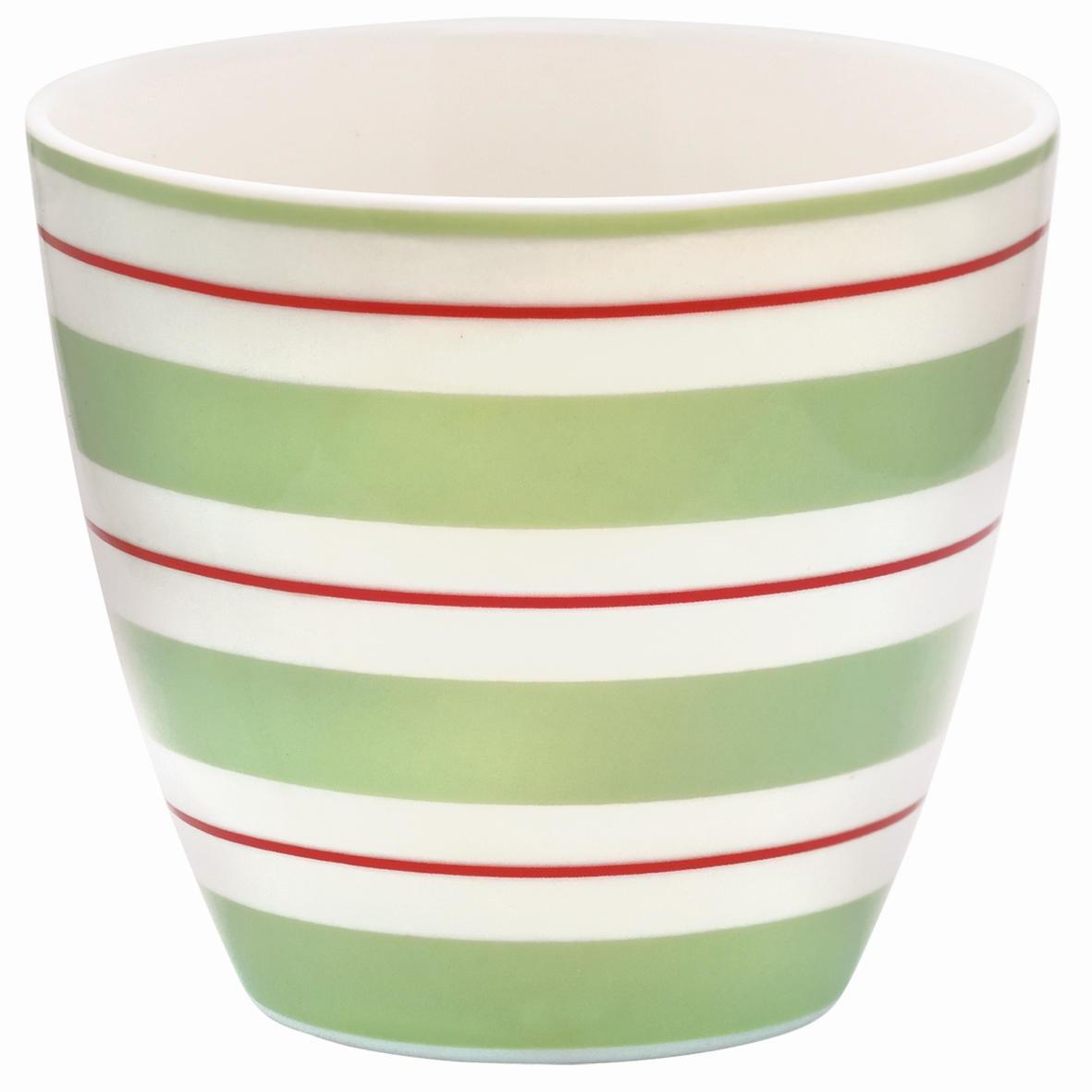 GREEN GATE Latte cup Elinor green, zelená barva, porcelán 300 ml