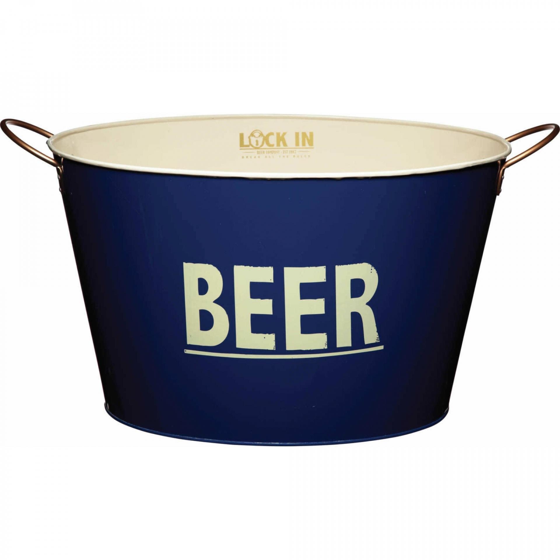Kitchen Craft Kyblík na chlazení piva, modrá barva, kov