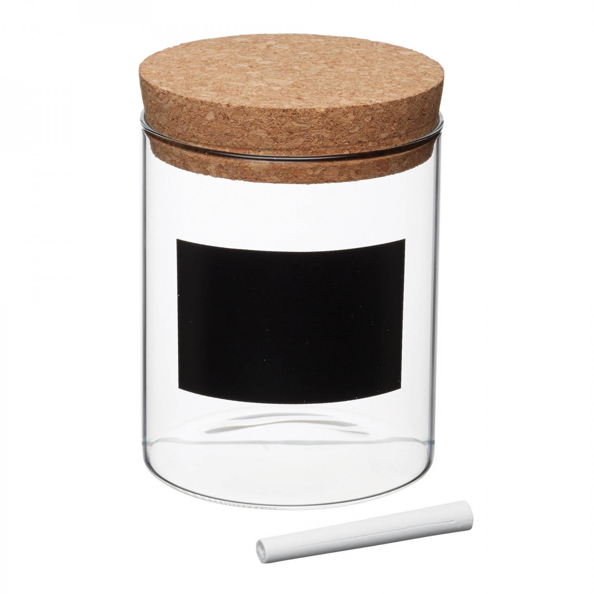 Kitchen Craft Skleněná dóza s korkovým víčkem S, čirá barva, přírodní barva, sklo, korek
