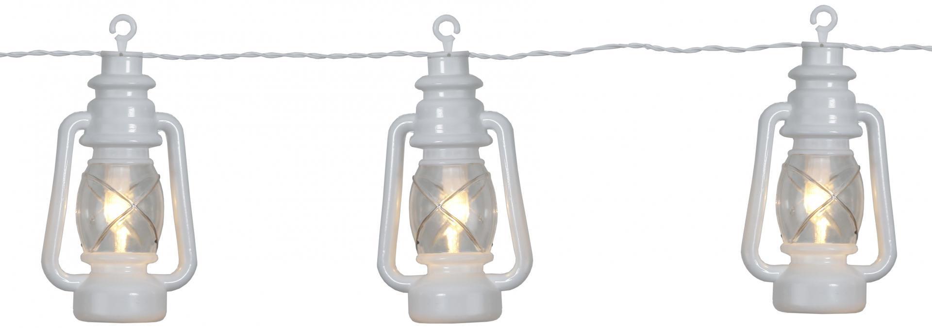 STAR TRADING Světelný LED řetěz White Lantern, bílá barva, plast