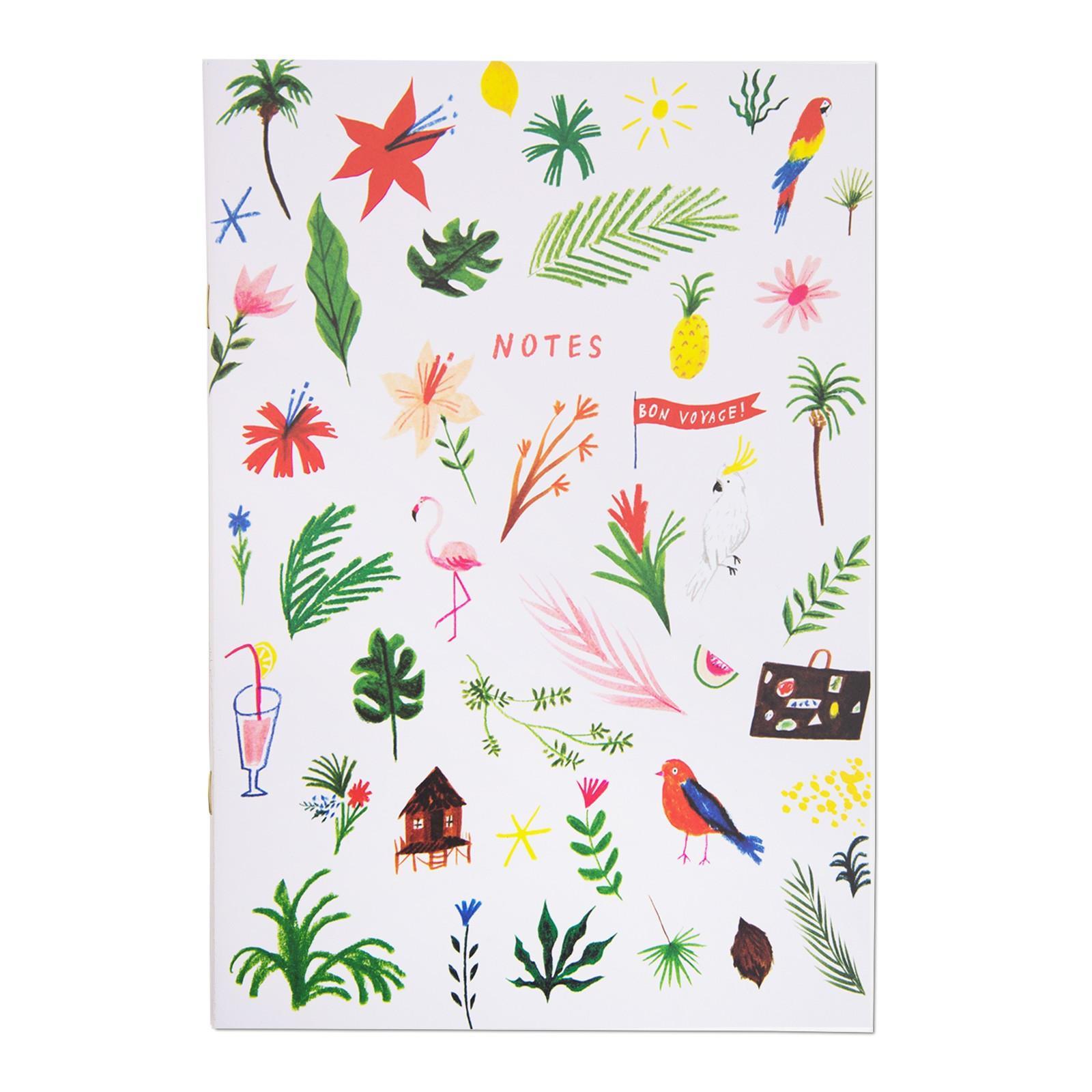 Ohh Deer Linkovaný sešit Tropical Icons, multi barva, papír