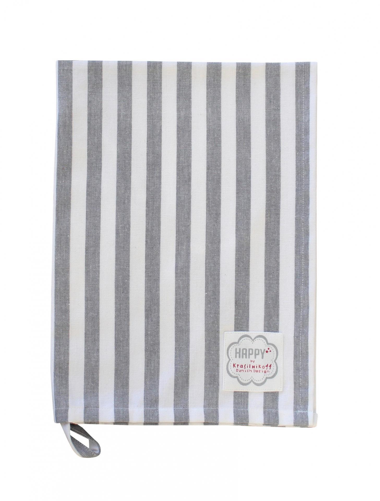 Krasilnikoff Utěrka Charcoal stripes