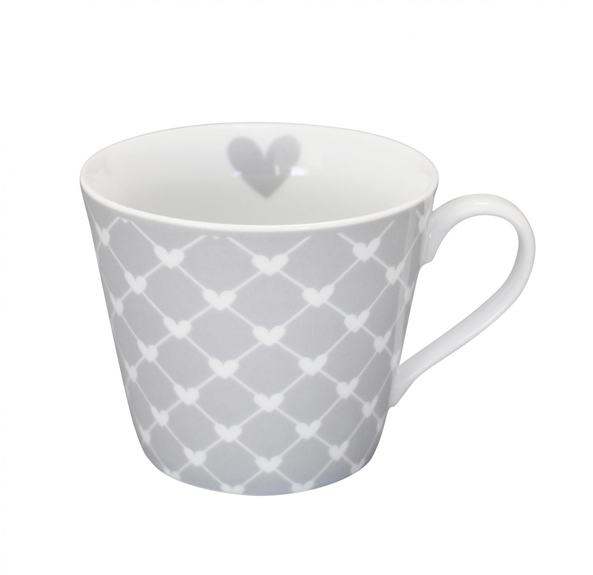 Krasilnikoff Hrneček Hearts grey diagonal