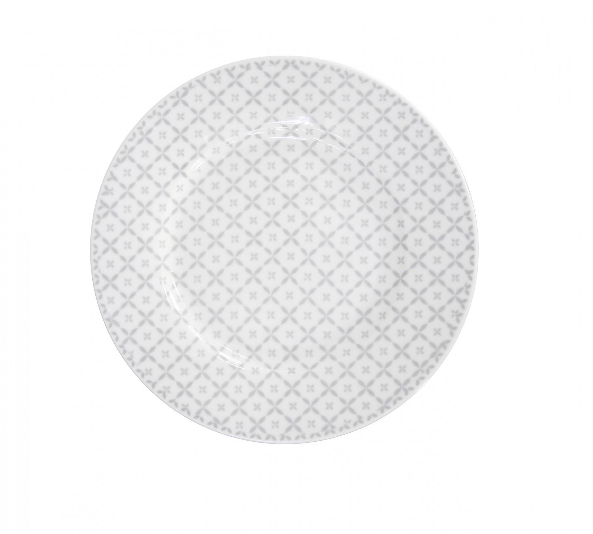 Krasilnikoff Dezertní talíř Grey diagonal