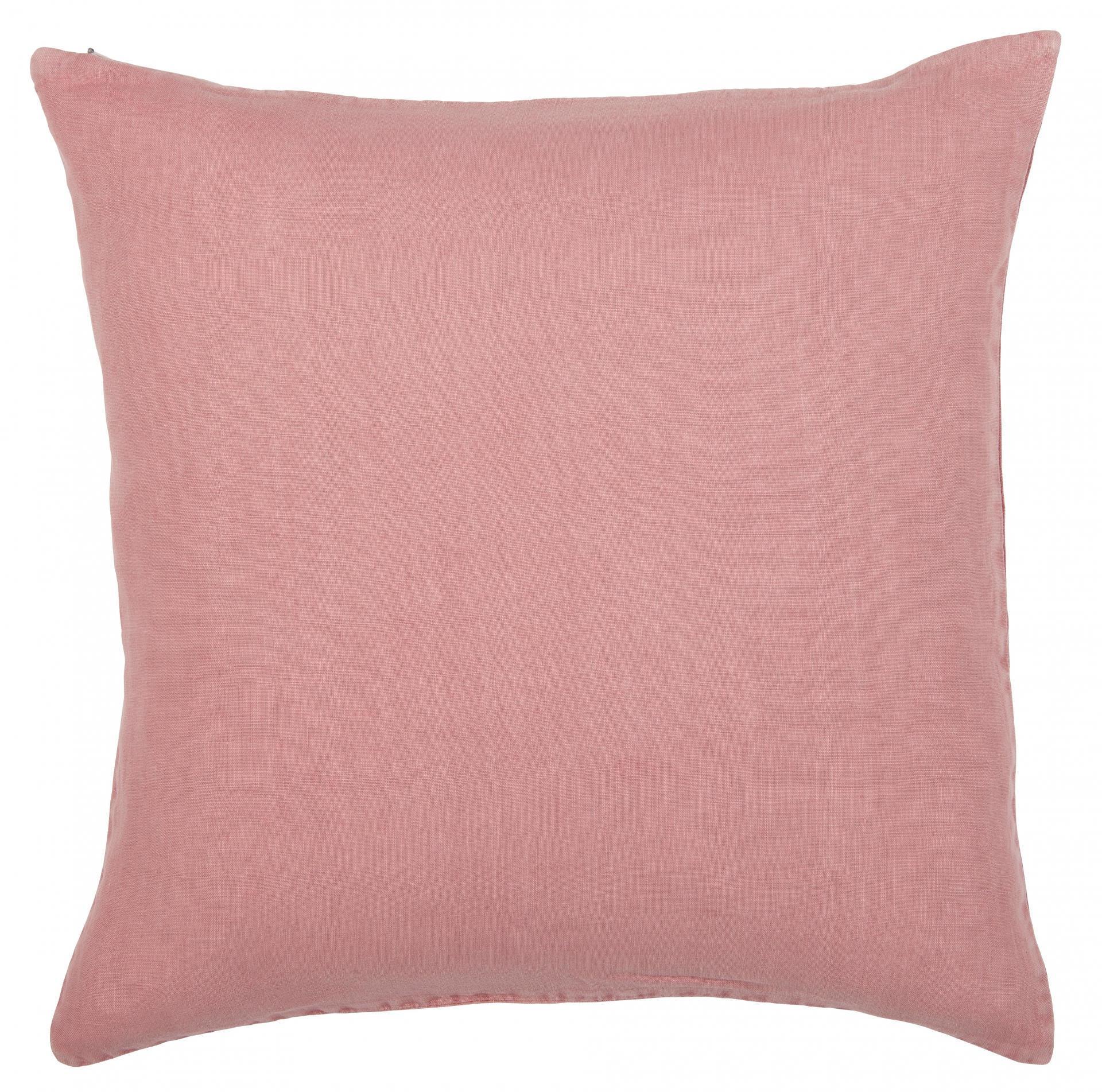 IB LAURSEN Lněný povlak na polštář Sorbet 50x50 cm, růžová barva, textil