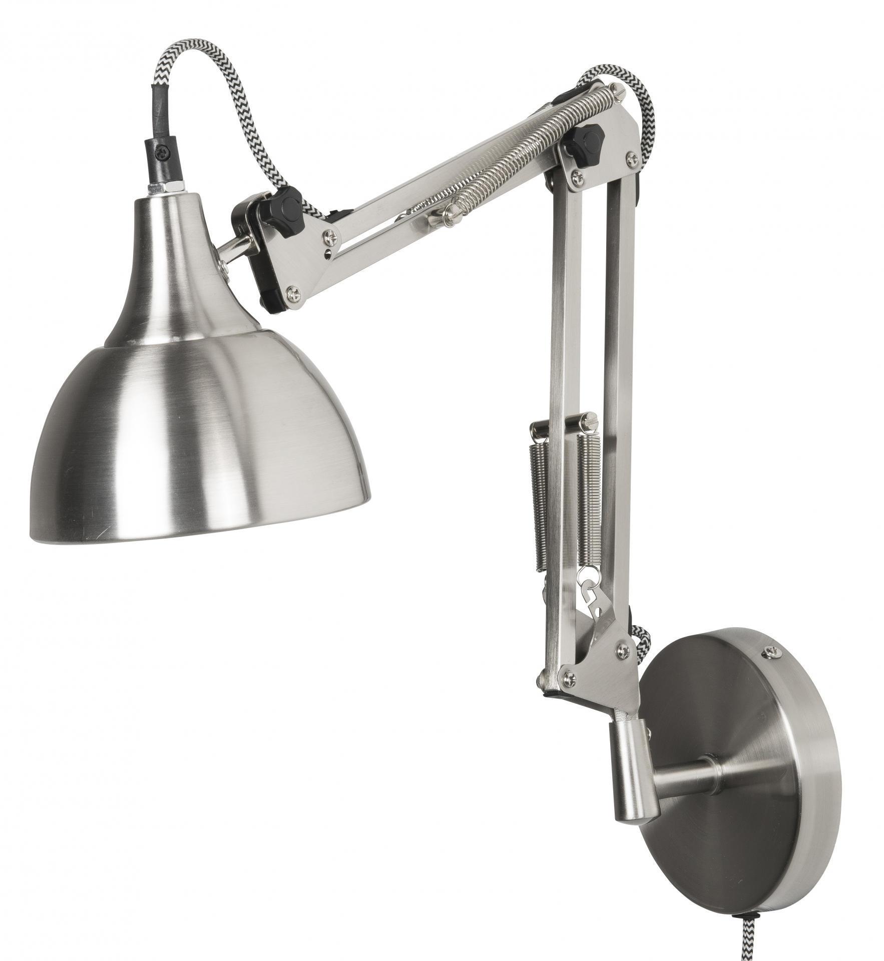 IB LAURSEN Nástěnná lampa Architect Silver, stříbrná barva, kov