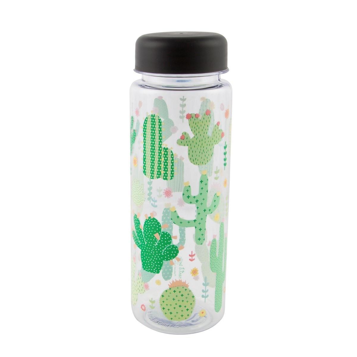 Sass & Belle Plastová lahev na vodu Cactus 450 ml