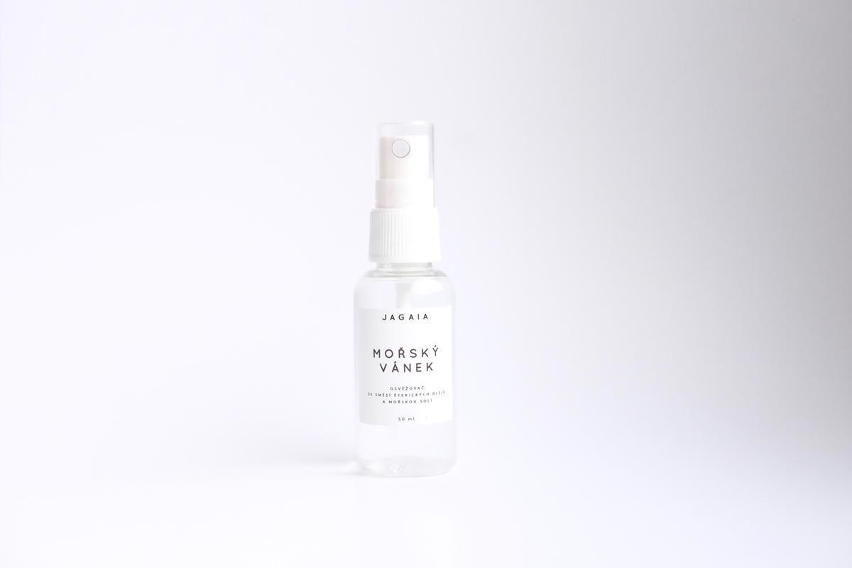 JAGAIA Svěží bylinný deodorant Mořský vánek, čirá barva, sklo, plast