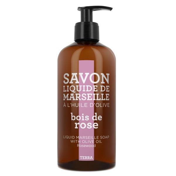 COMPAGNIE DE PROVENCE Tekuté mýdlo Rosewood 500 ml, růžová barva, hnědá barva, plast