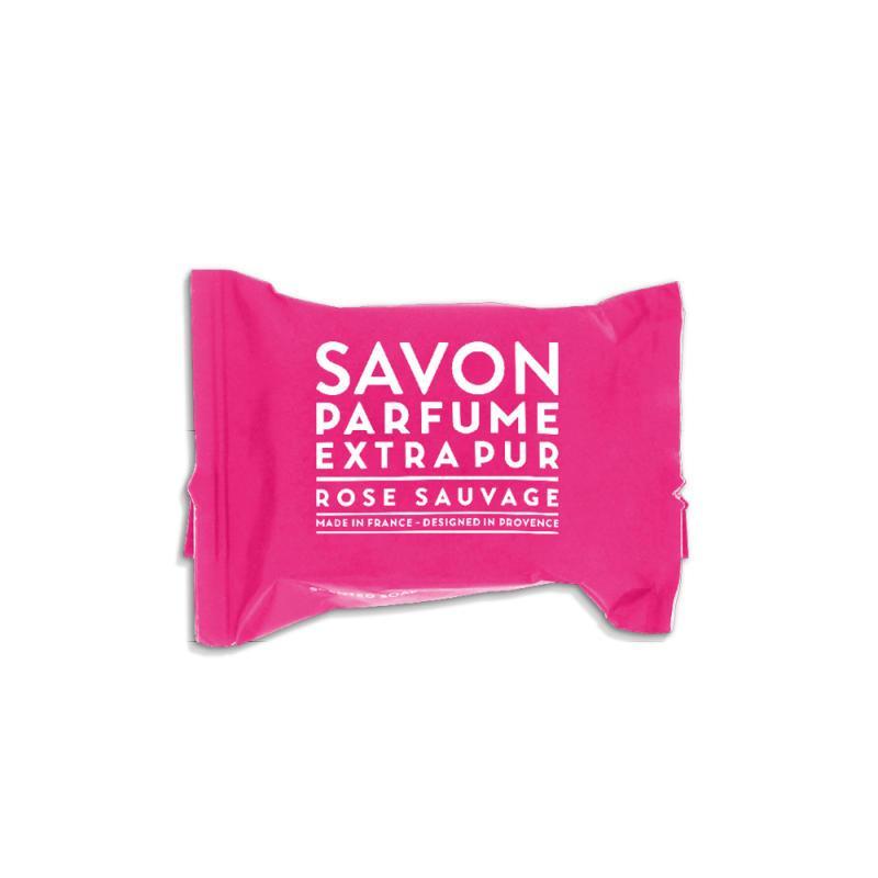 COMPAGNIE DE PROVENCE Mini mýdlo Divoká růže 25 g, růžová barva, papír