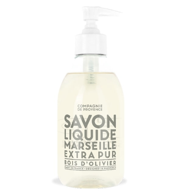 COMPAGNIE DE PROVENCE Tekuté mýdlo Olivové dřevo 300 ml, bílá barva, čirá barva, plast