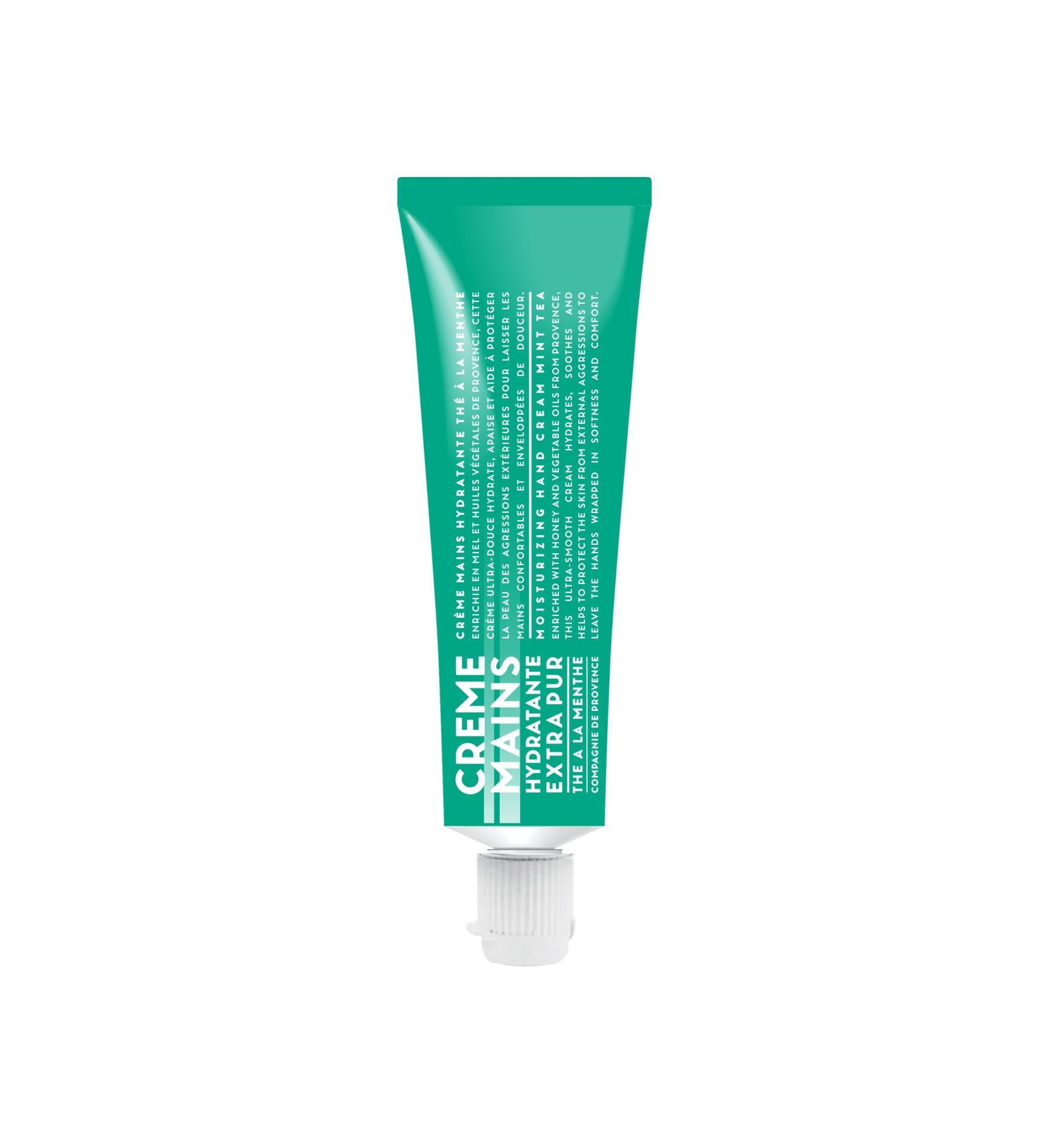 COMPAGNIE DE PROVENCE Mini krém na ruce Mátový čaj 30 ml, zelená barva, plast