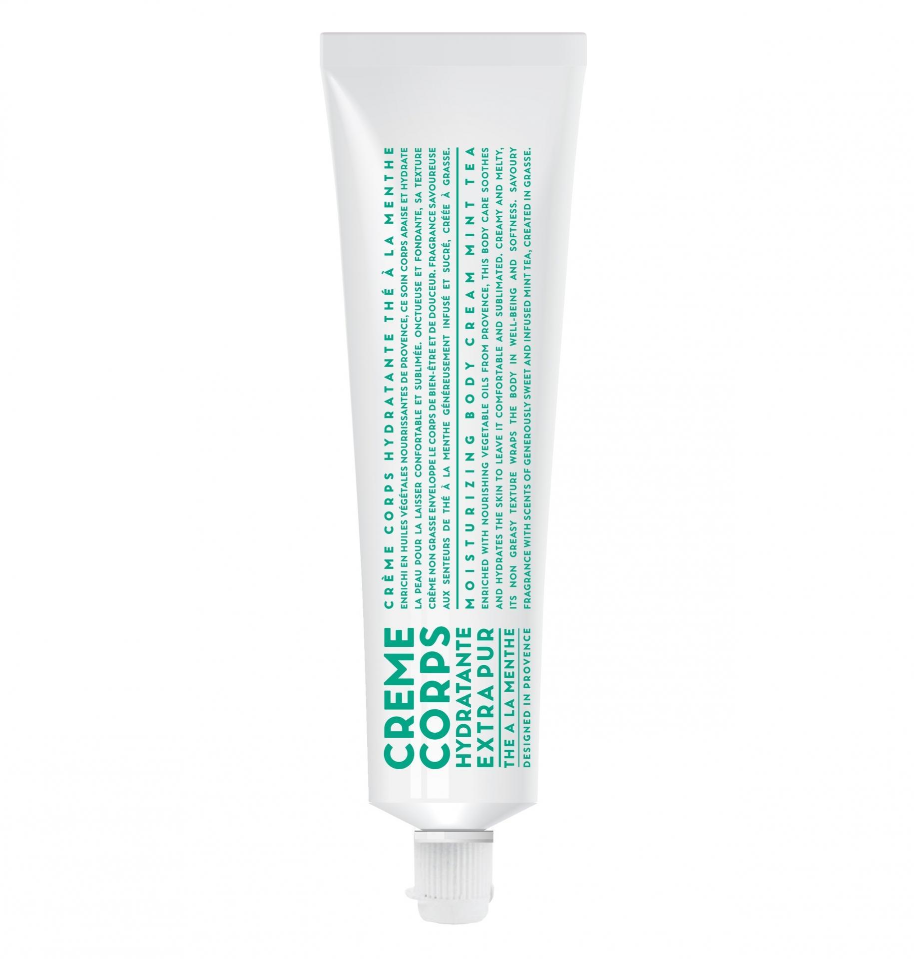 COMPAGNIE DE PROVENCE Tělový krém v tubě Mátový čaj 100 ml, zelená barva, bílá barva, plast