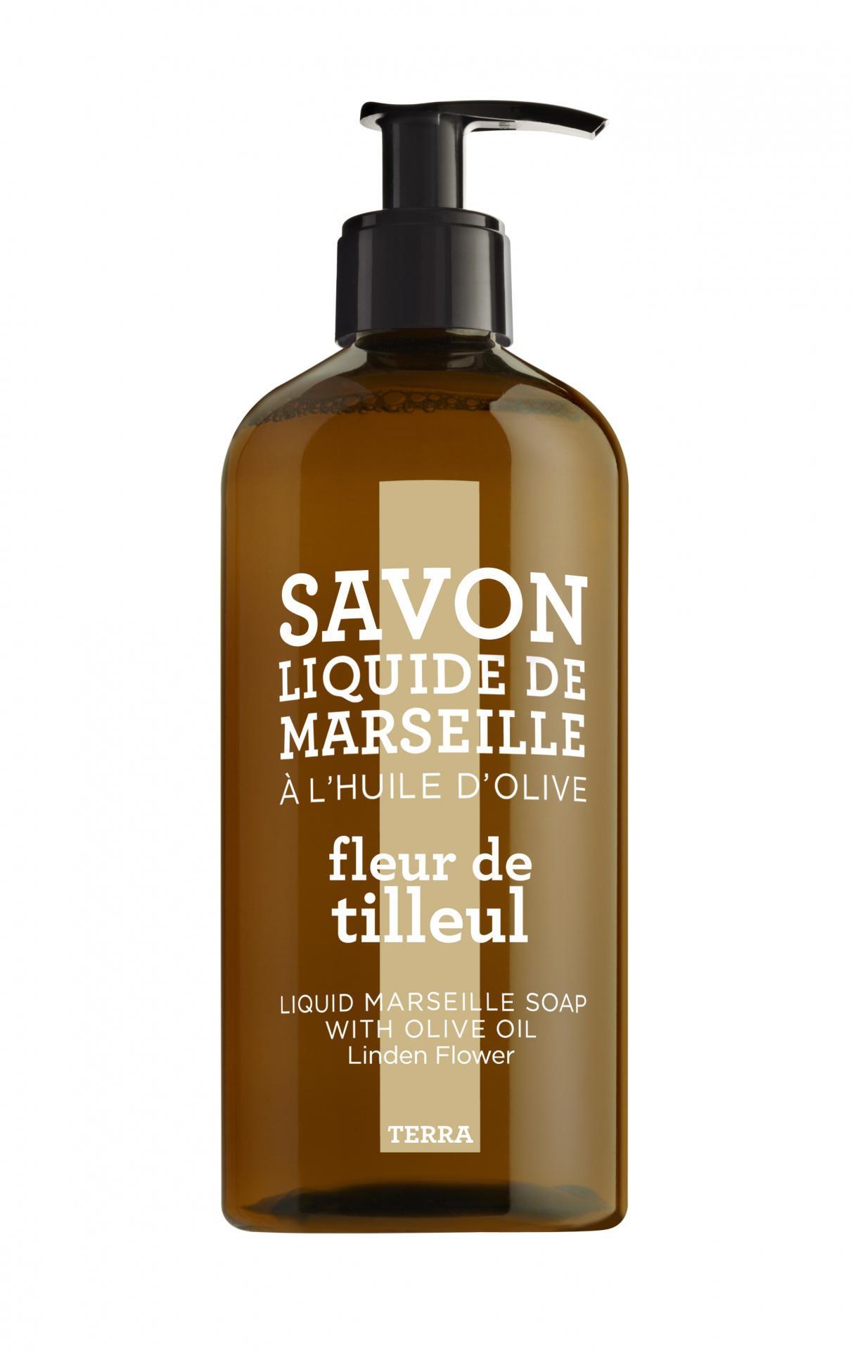 COMPAGNIE DE PROVENCE Tekuté mýdlo Lipový květ 500 ml, béžová barva, hnědá barva, plast