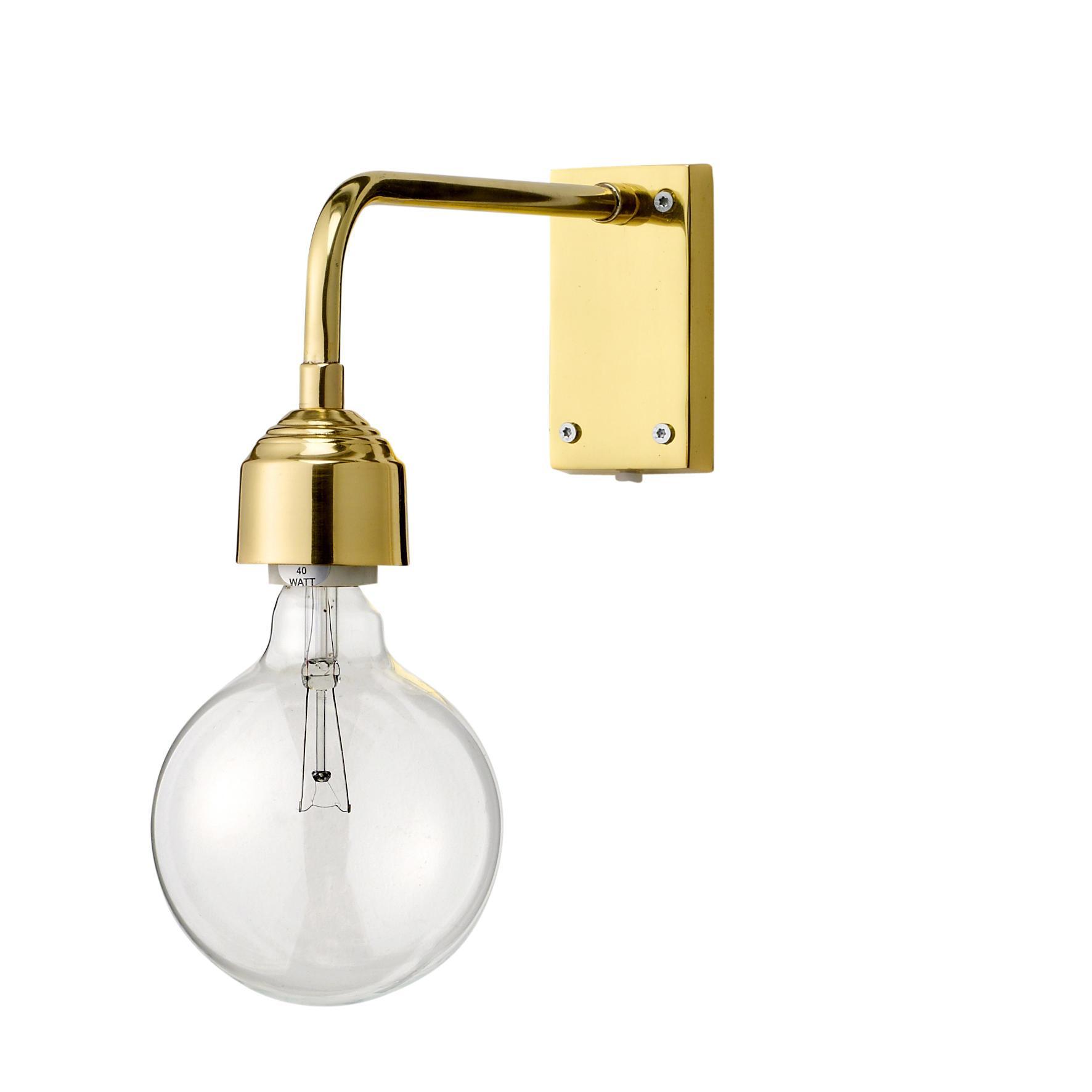Bloomingville Nástěnná lampička Gold Metal, zlatá barva, kov