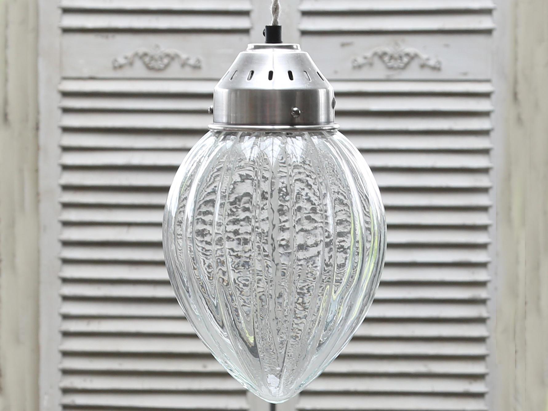 Chic Antique Závěsná lampa Glass Silver