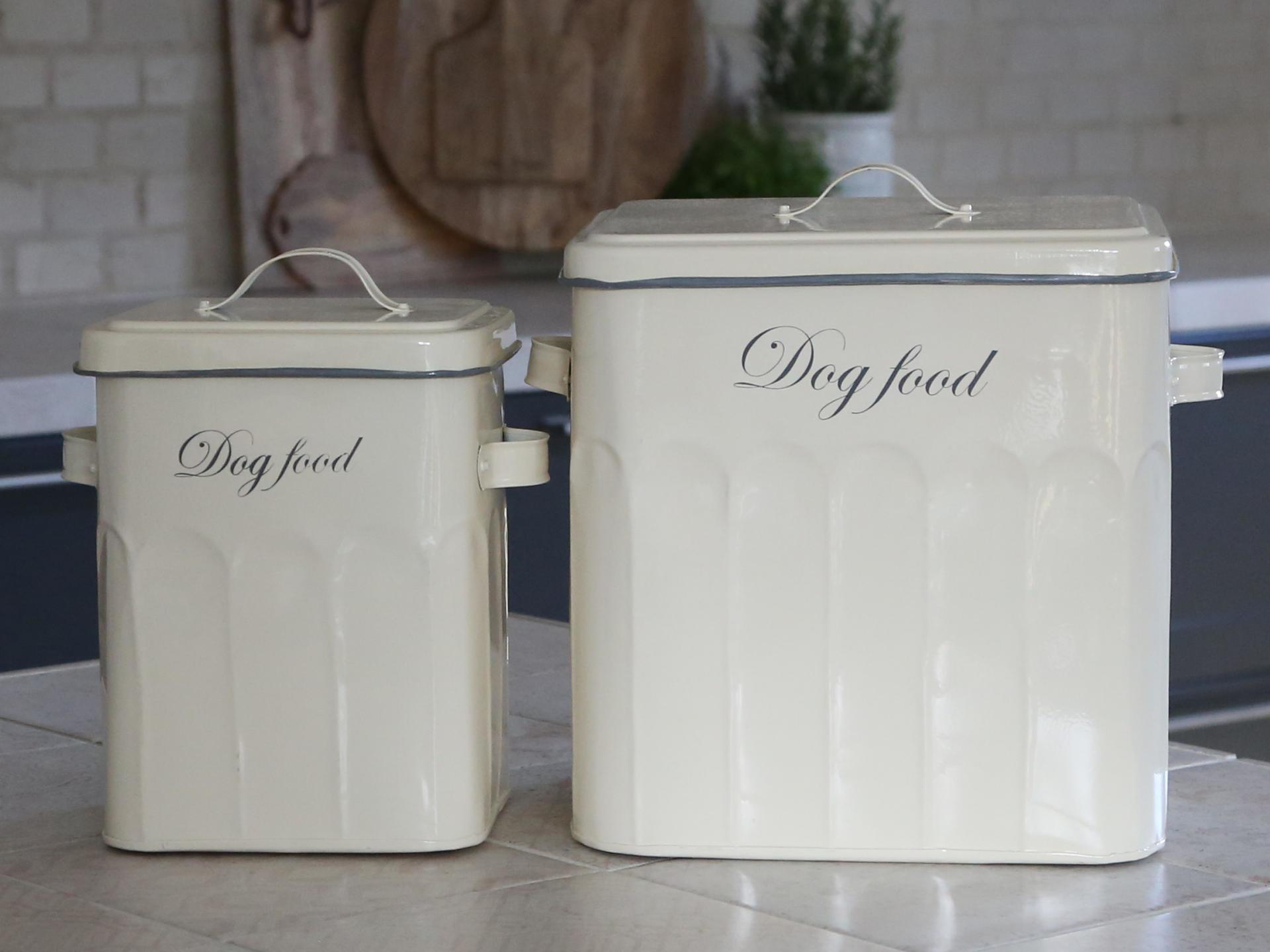 Chic Antique Plechový box na granule Dog Food Menší