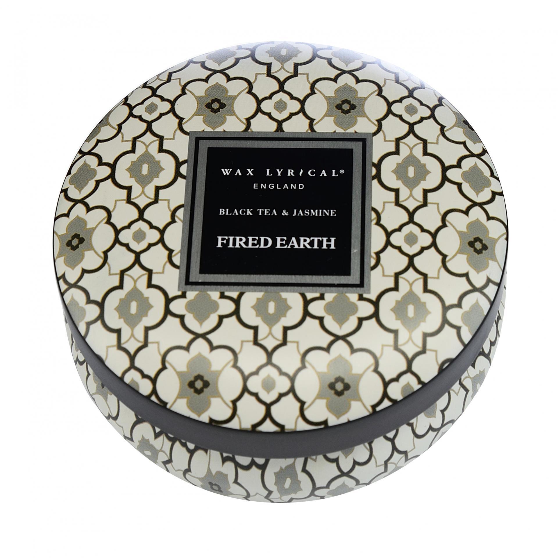 WAX LYRICAL Vonná svíčka Jasmín a černý čaj 170gr, béžová barva, černá barva, kov