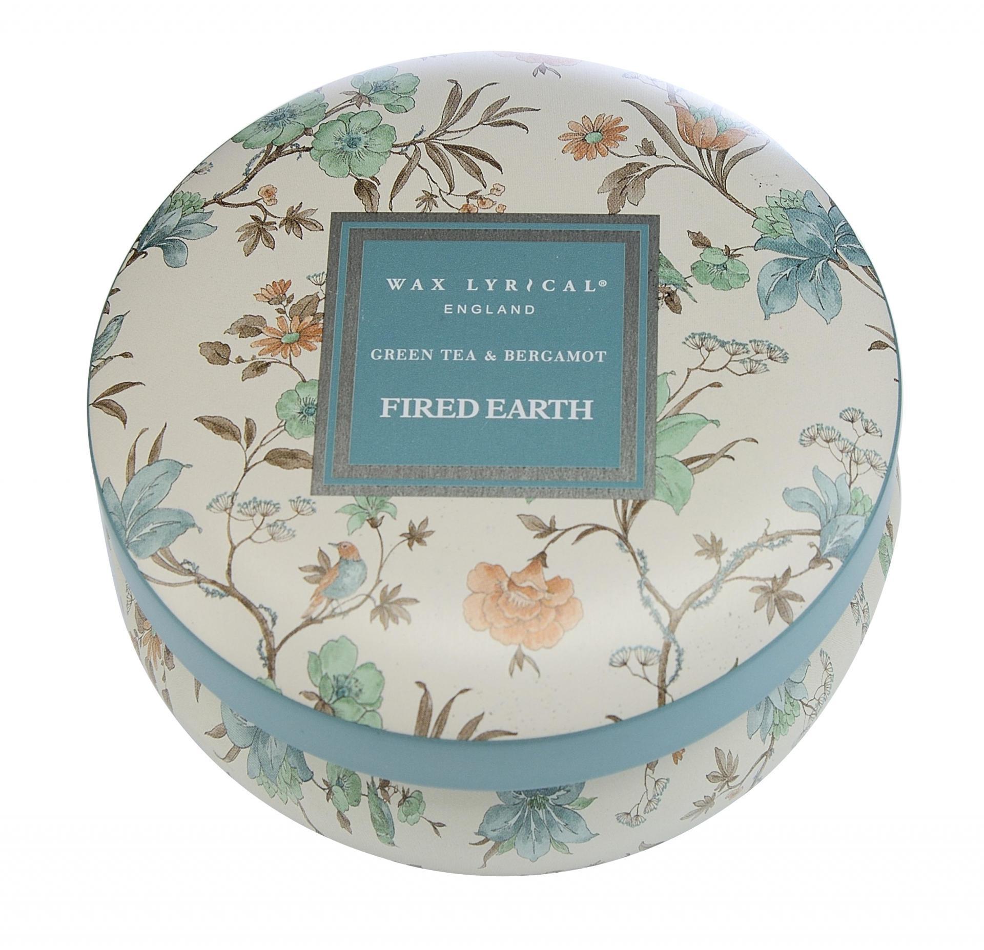 Wax Lyrical Vonná svíčka Bergamot a zelený čaj 170gr, modrá barva, kov