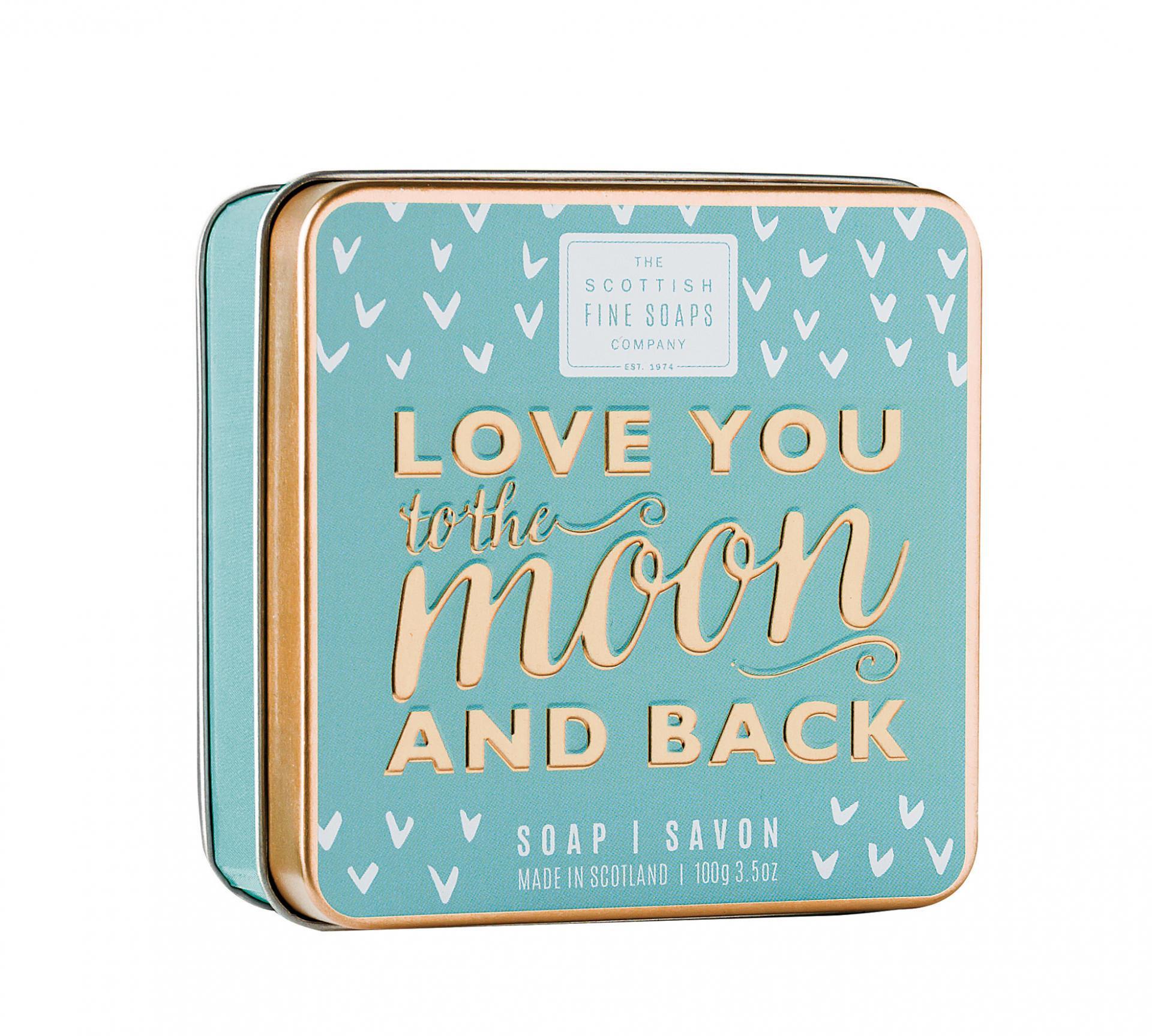 Scottish fine soaps Mýdlo v plechové krabičce Love you
