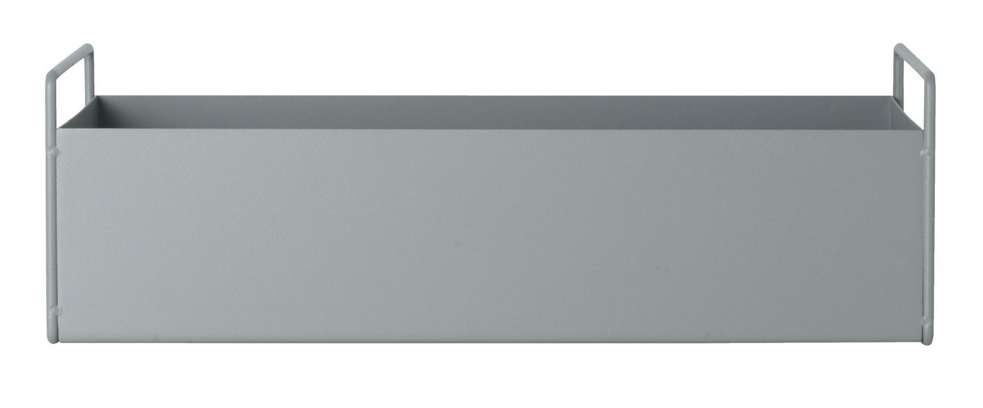 ferm LIVING Designový truhlík Dusty Blue, modrá barva, šedá barva, kov 17cmxx14,5cm