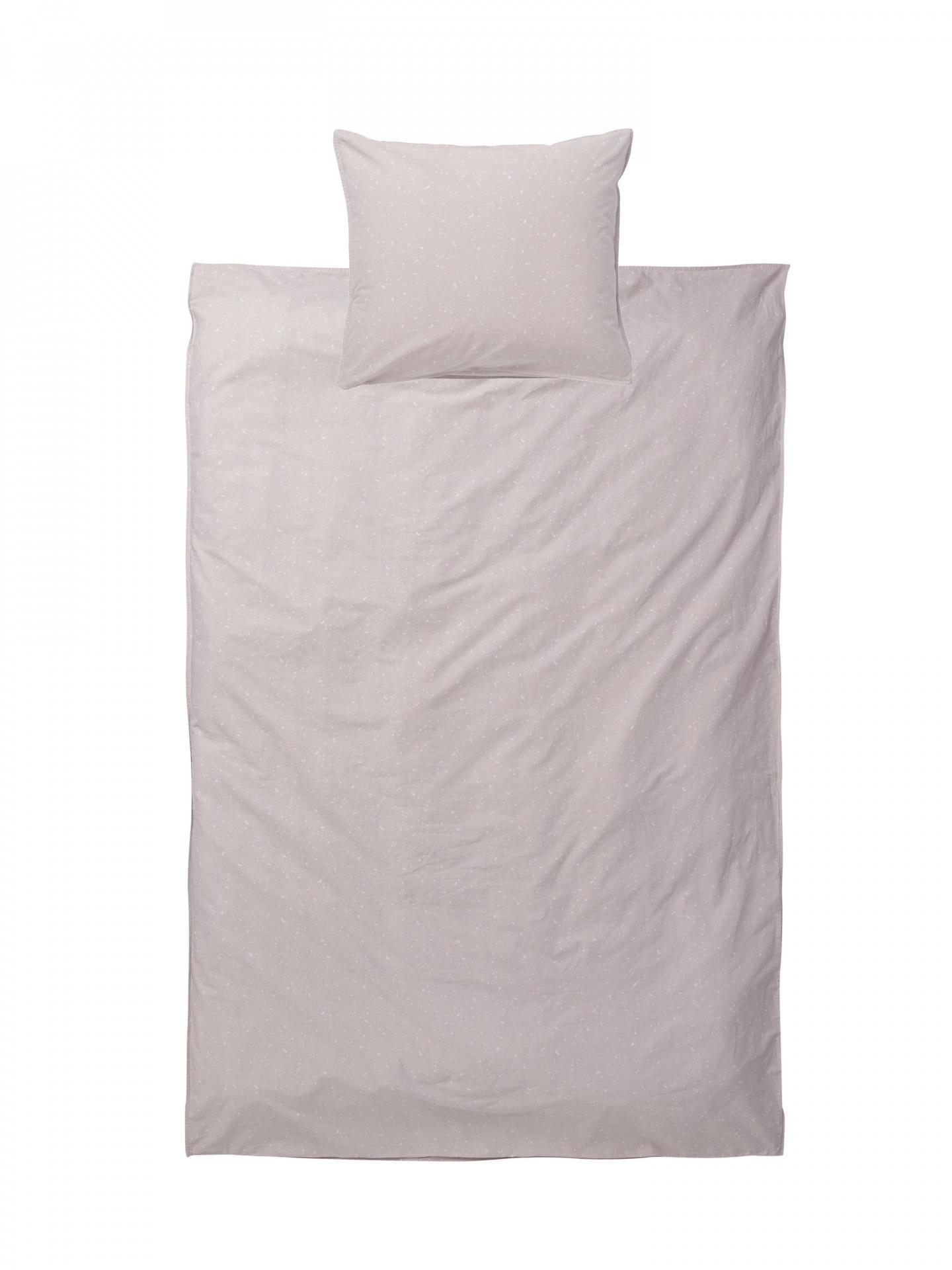 ferm LIVING Bavlněné povlečení Hush Milkyway Rose 140x200 cm, růžová barva, bílá barva, textil