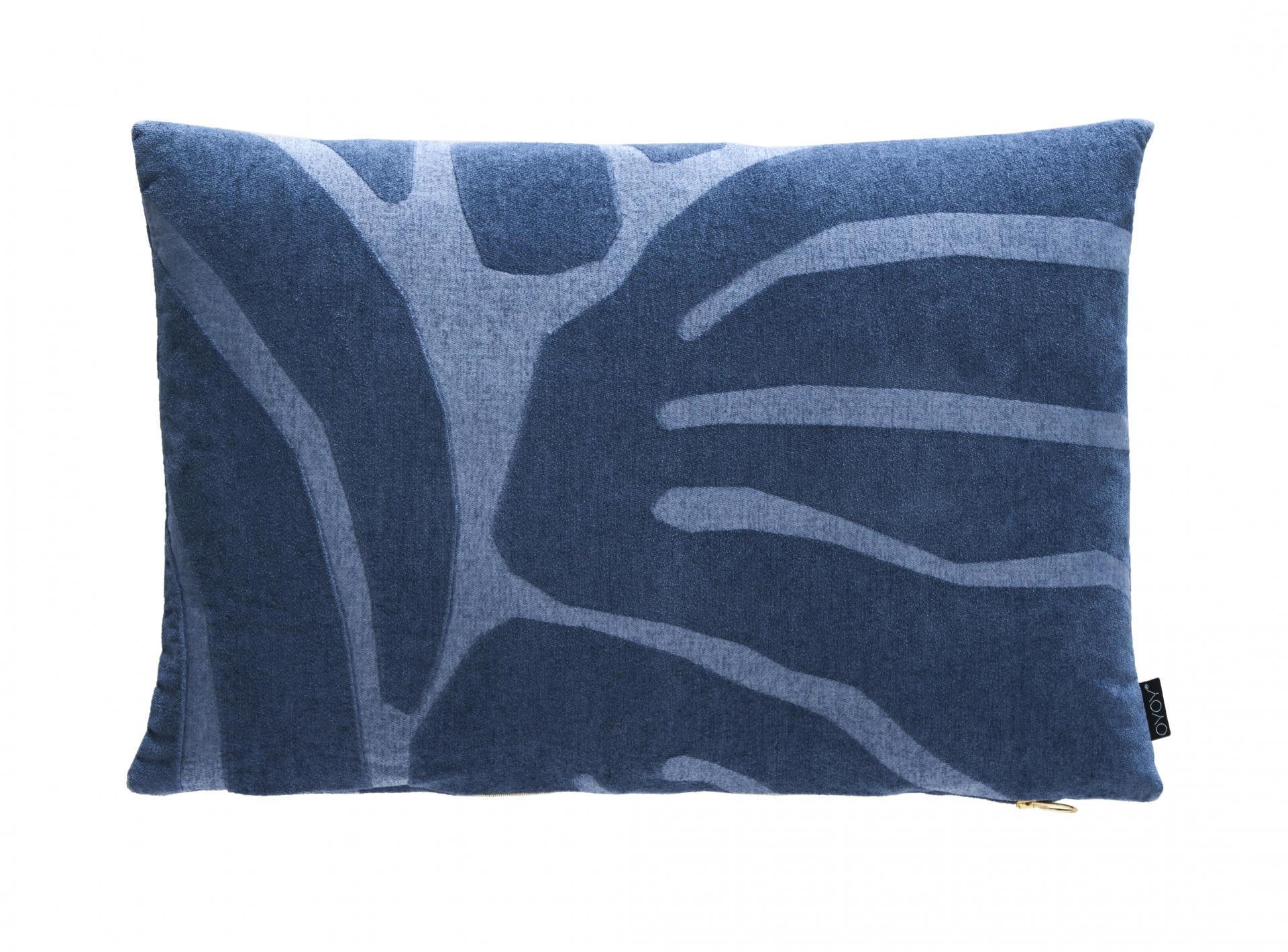 OYOY Polštář Roa Flint stone blue 40x60 cm
