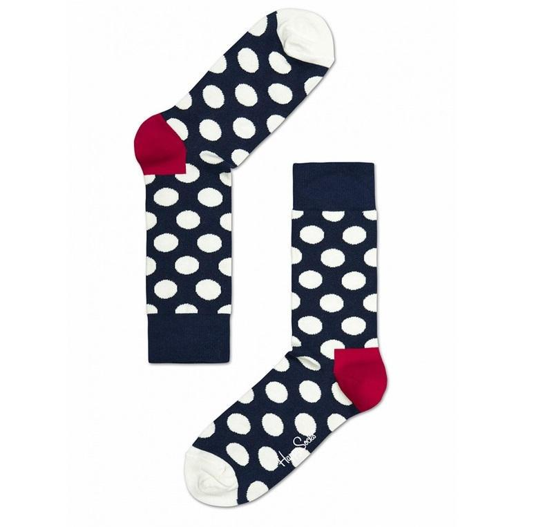 94c0e75de52 Happy Socks   Ponožky Happy Socks s bílými puntíky Big Dot