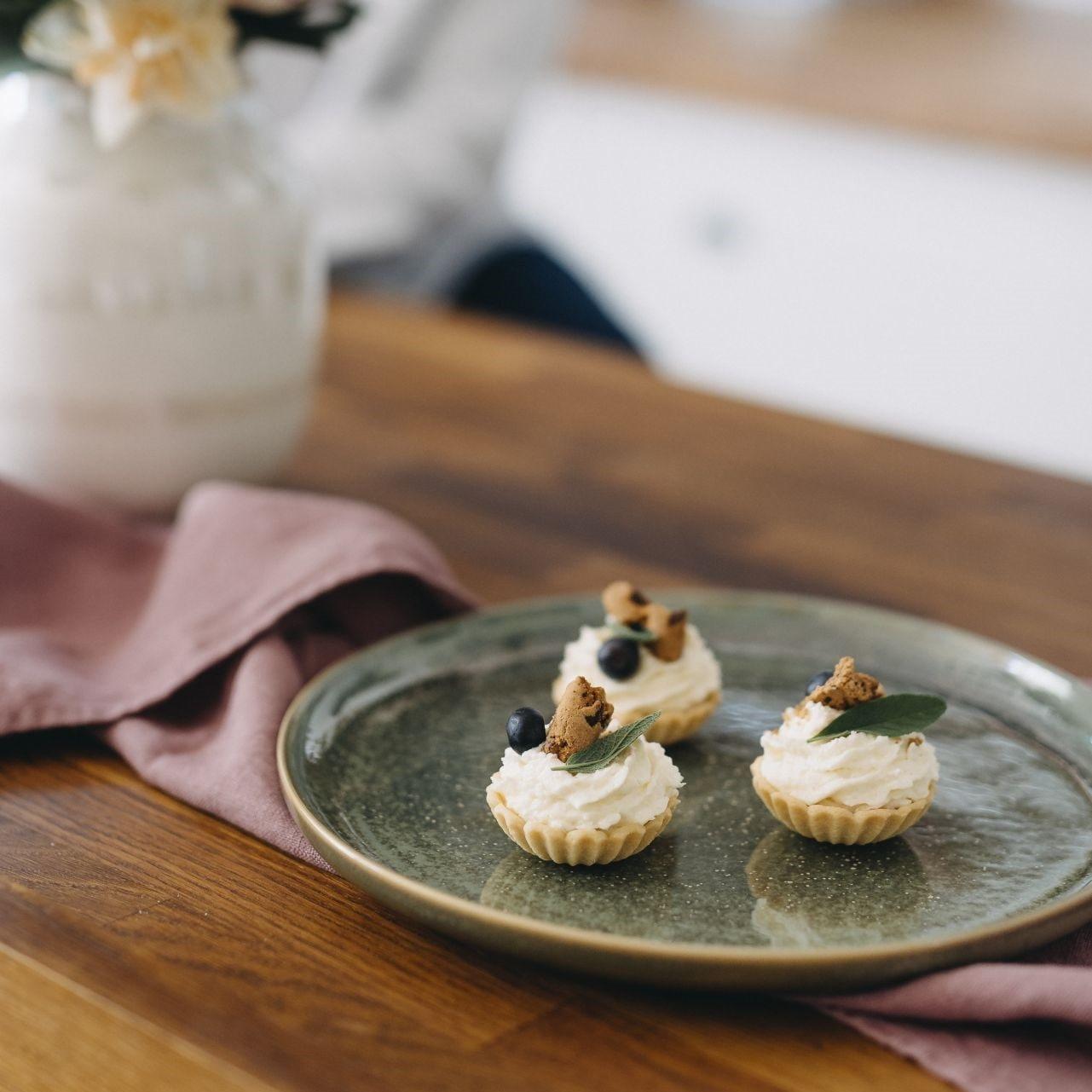 Tine K Home Obědový talíř Dine Moss, zelená barva, keramika