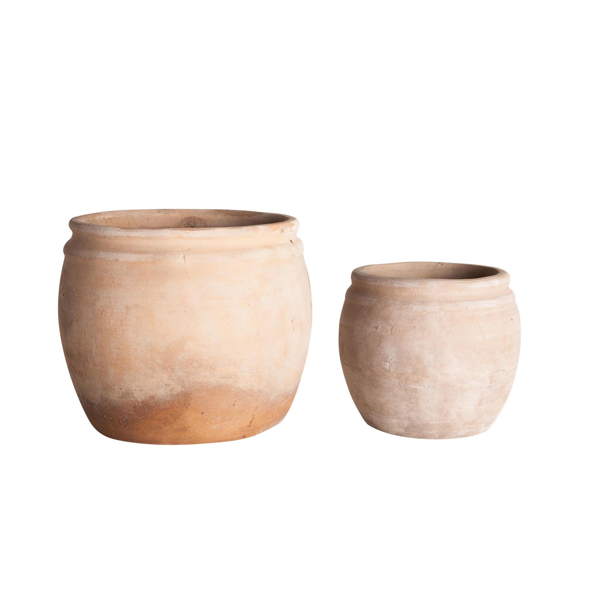 Tine K Home Hliněný květník Vietnam Menší, oranžová barva, keramika