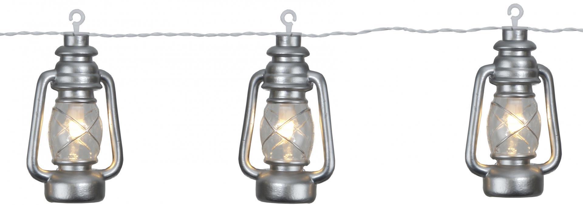 STAR TRADING Světelný LED řetěz Silver Lantern, stříbrná barva, plast