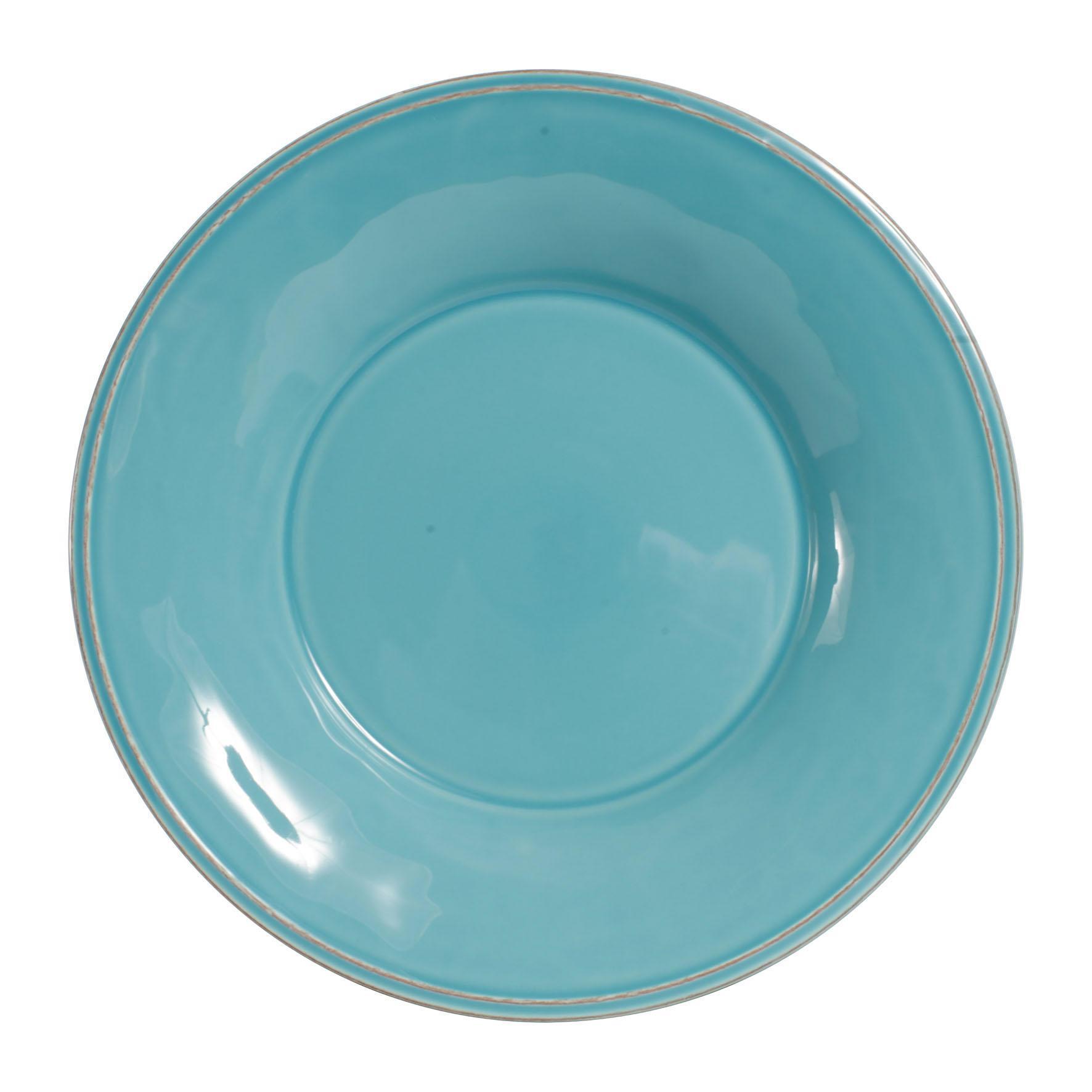 Côté Table Polévkový talíř Constance Turquoise, modrá barva, zelená barva, keramika