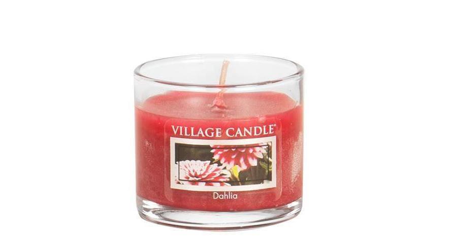 VILLAGE CANDLE Mini svíčka Village Candle - Dahlia, červená barva