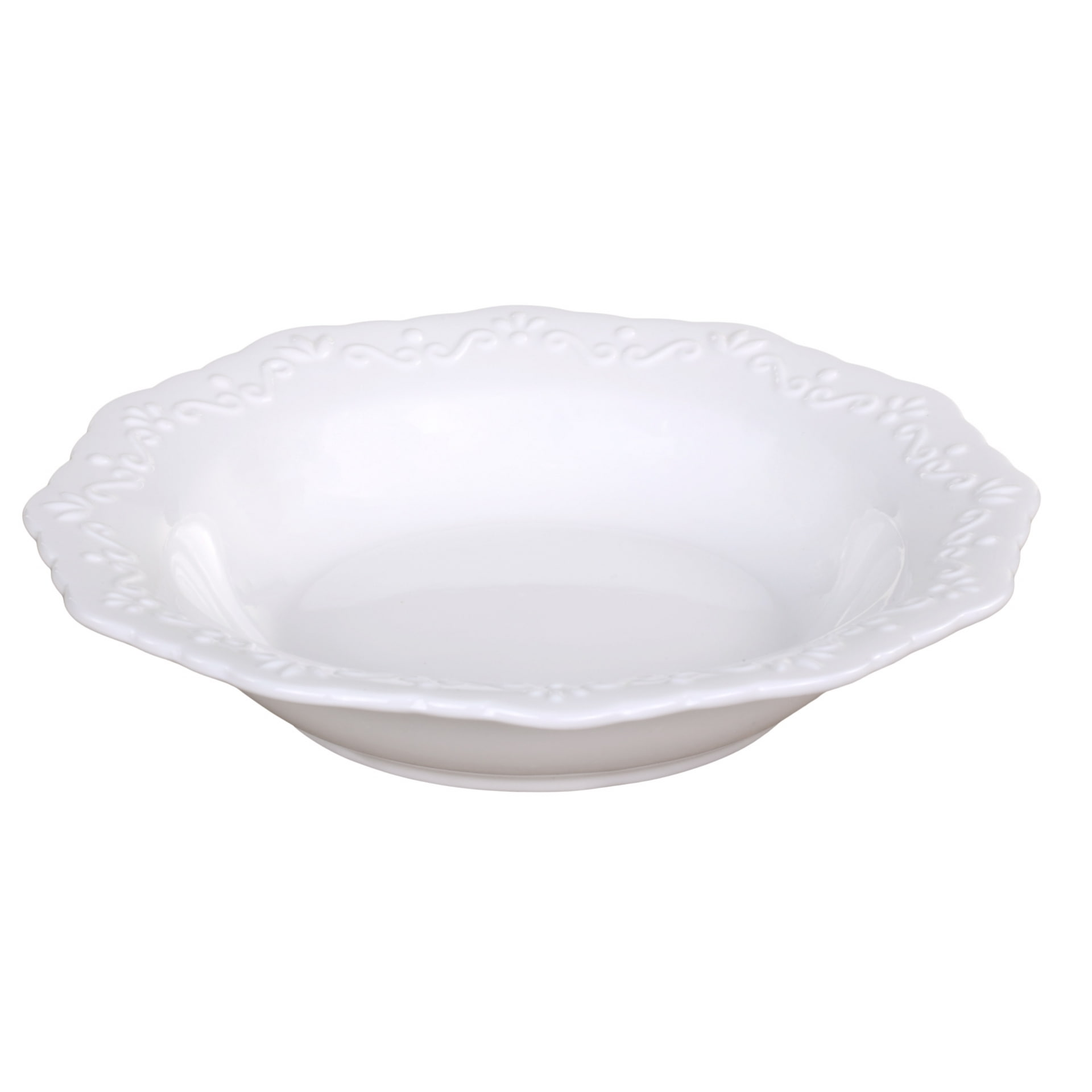 Chic Antique Porcelánový polévkový talíř Provence, bílá barva, porcelán