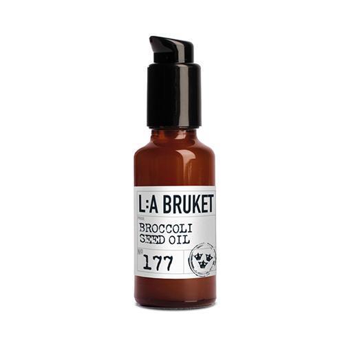 L:A BRUKET Pleťový olej s brokolicovými semínky 30 ml, hnědá barva, sklo