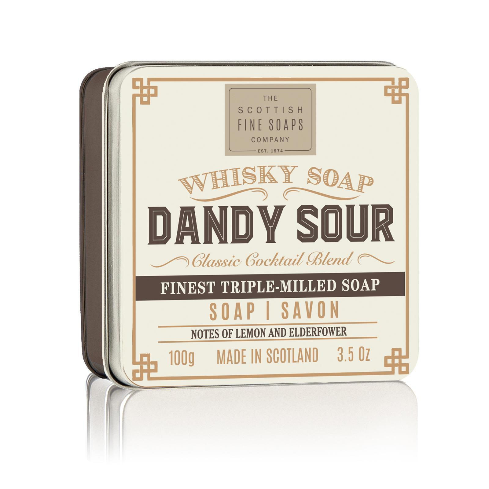 SCOTTISH FINE SOAPS Mýdlo v plechové krabičce Dandy Sour Cocktail, béžová barva, hnědá barva, kov
