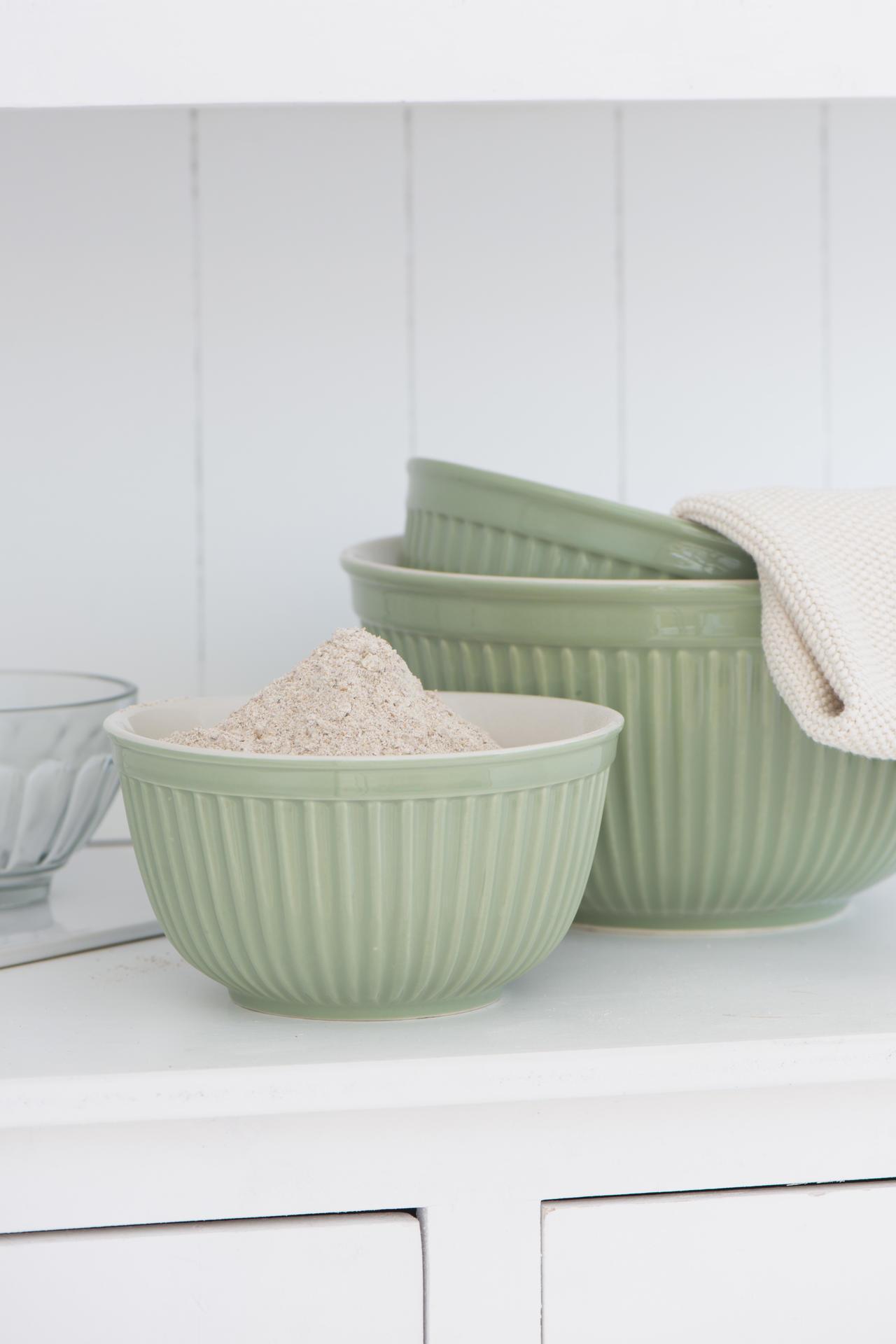 IB LAURSEN Keramická mísa Mynte Meadow green Velikost S, zelená barva, keramika