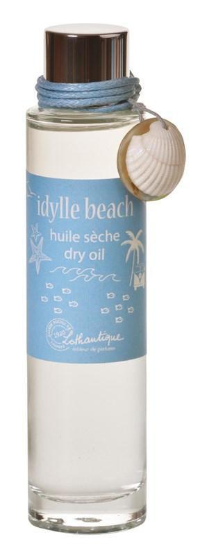 Lothantique Suchý tělový olej Idylle Beach 50ml, modrá barva, sklo