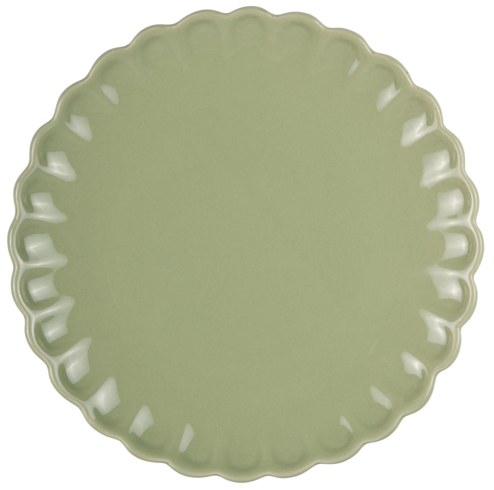 IB LAURSEN Talíř Mynte Meadow green, zelená barva, keramika