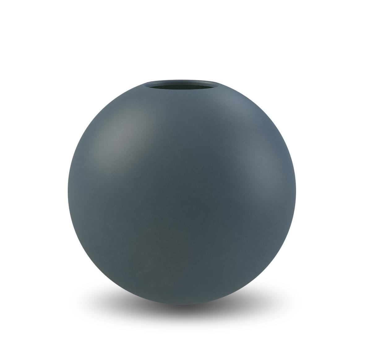 COOEE Design Kulatá váza Ball Midnight Blue 10 cm, modrá barva, keramika