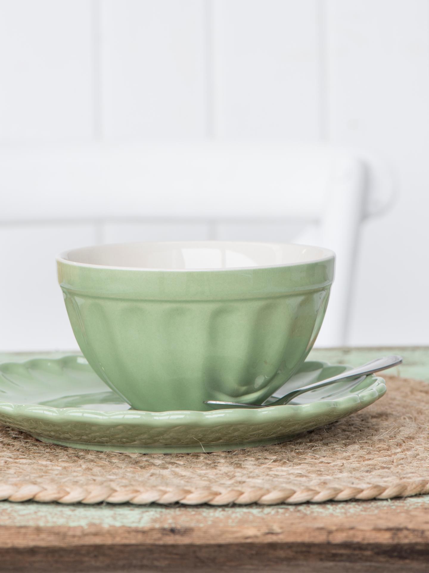 IB LAURSEN Miska na müsli Mynte Meadow green, zelená barva, keramika