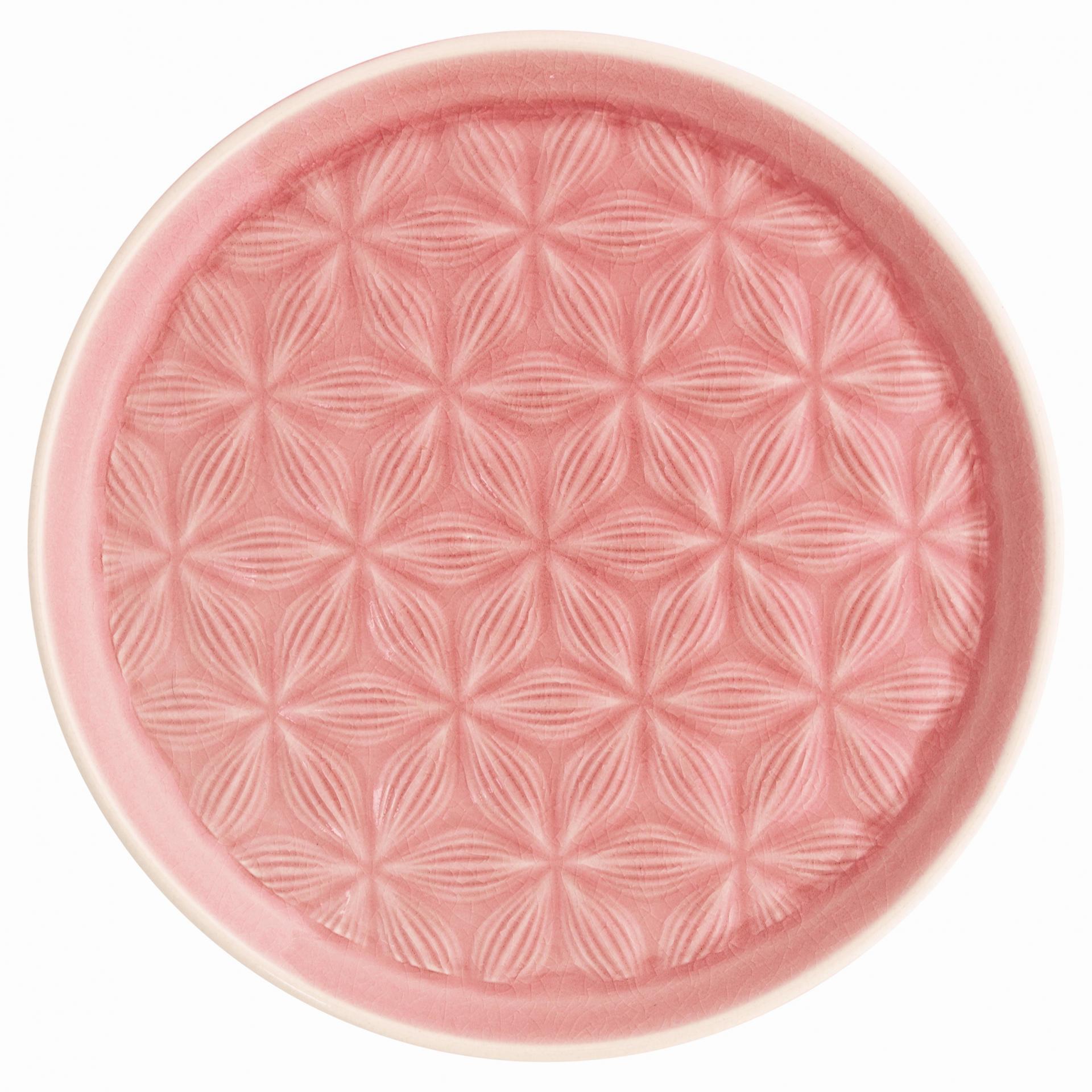 GREEN GATE Dezertní talíř Kallia pale pink, růžová barva, keramika