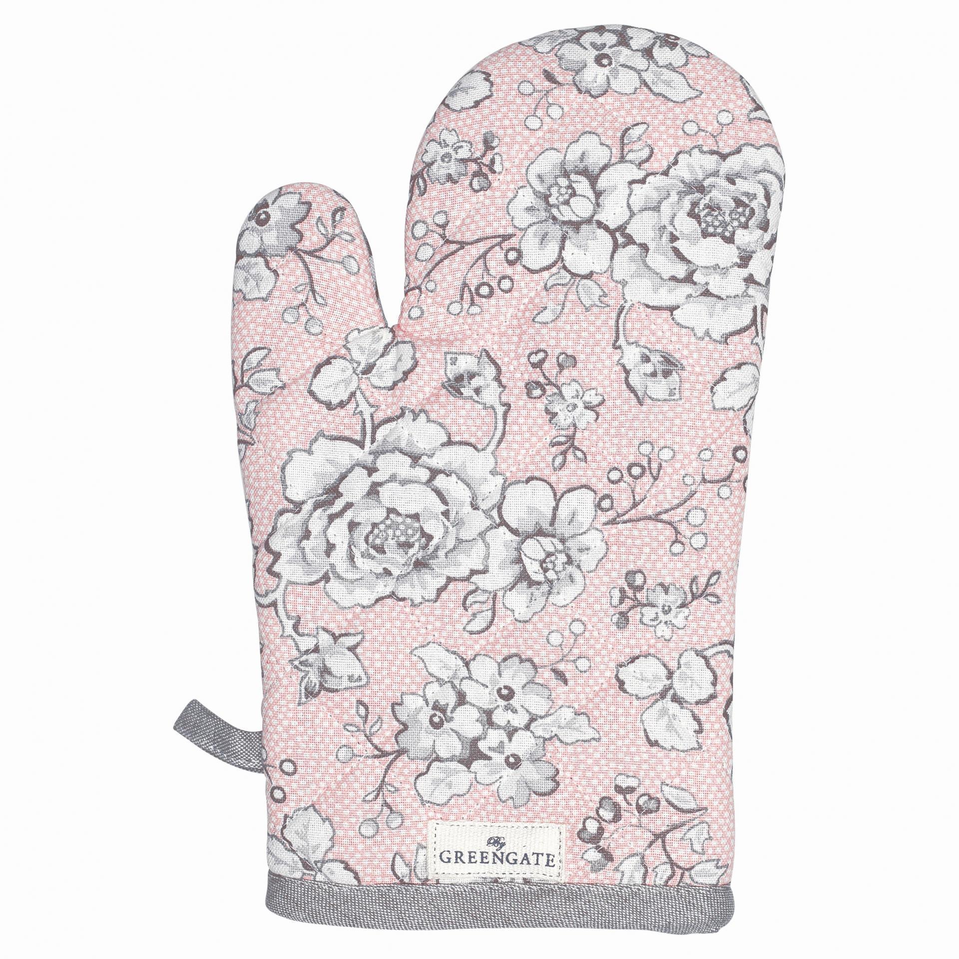 GREEN GATE Grilovací rukavice Ella pale pink, růžová barva, textil