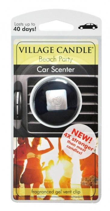 VILLAGE CANDLE Vůně do auta s klipem Village Candle - Beach Party, černá barva