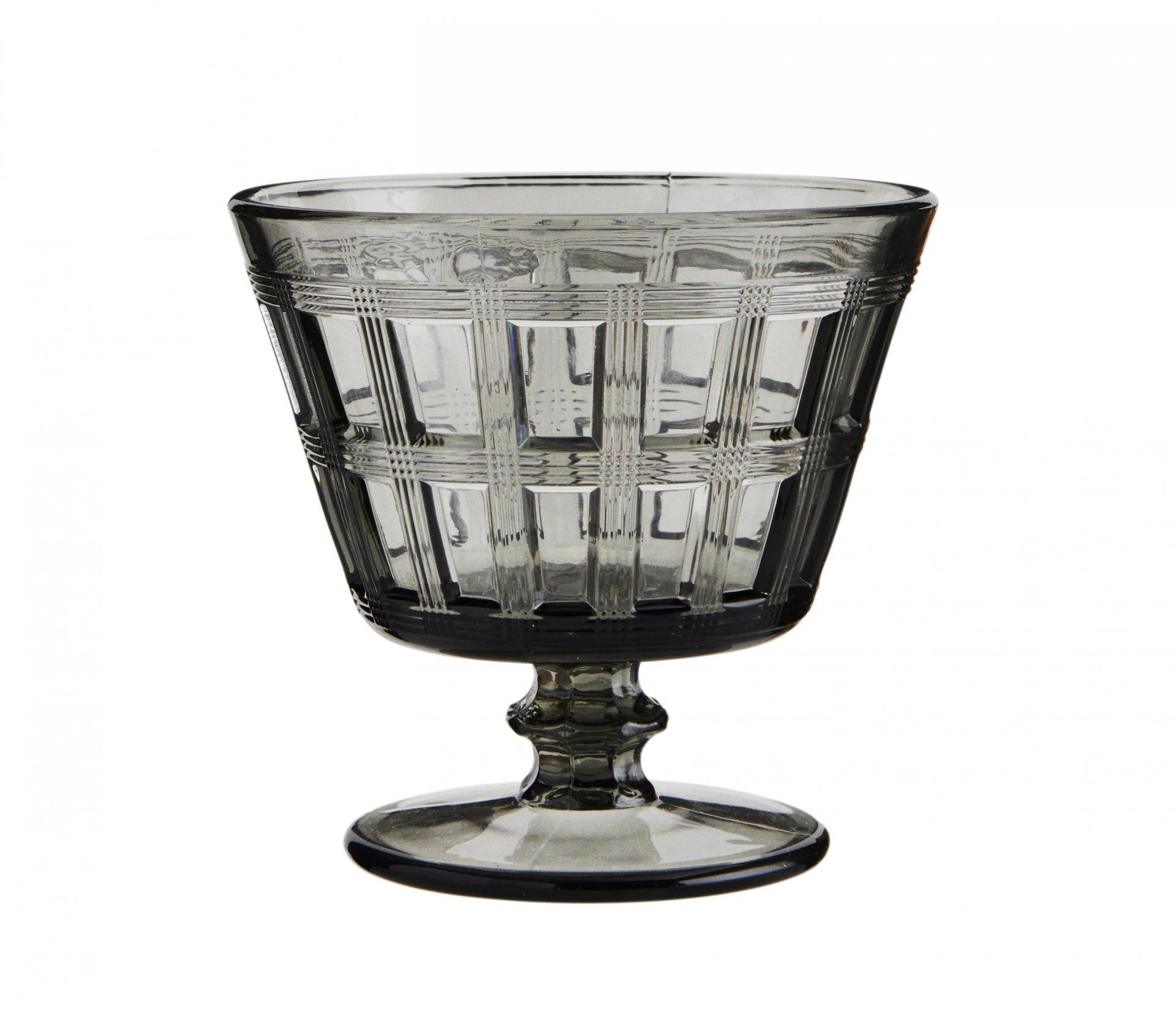 MADAM STOLTZ Sklenice na koktejly Smoke Glass 250 ml, šedá barva, sklo