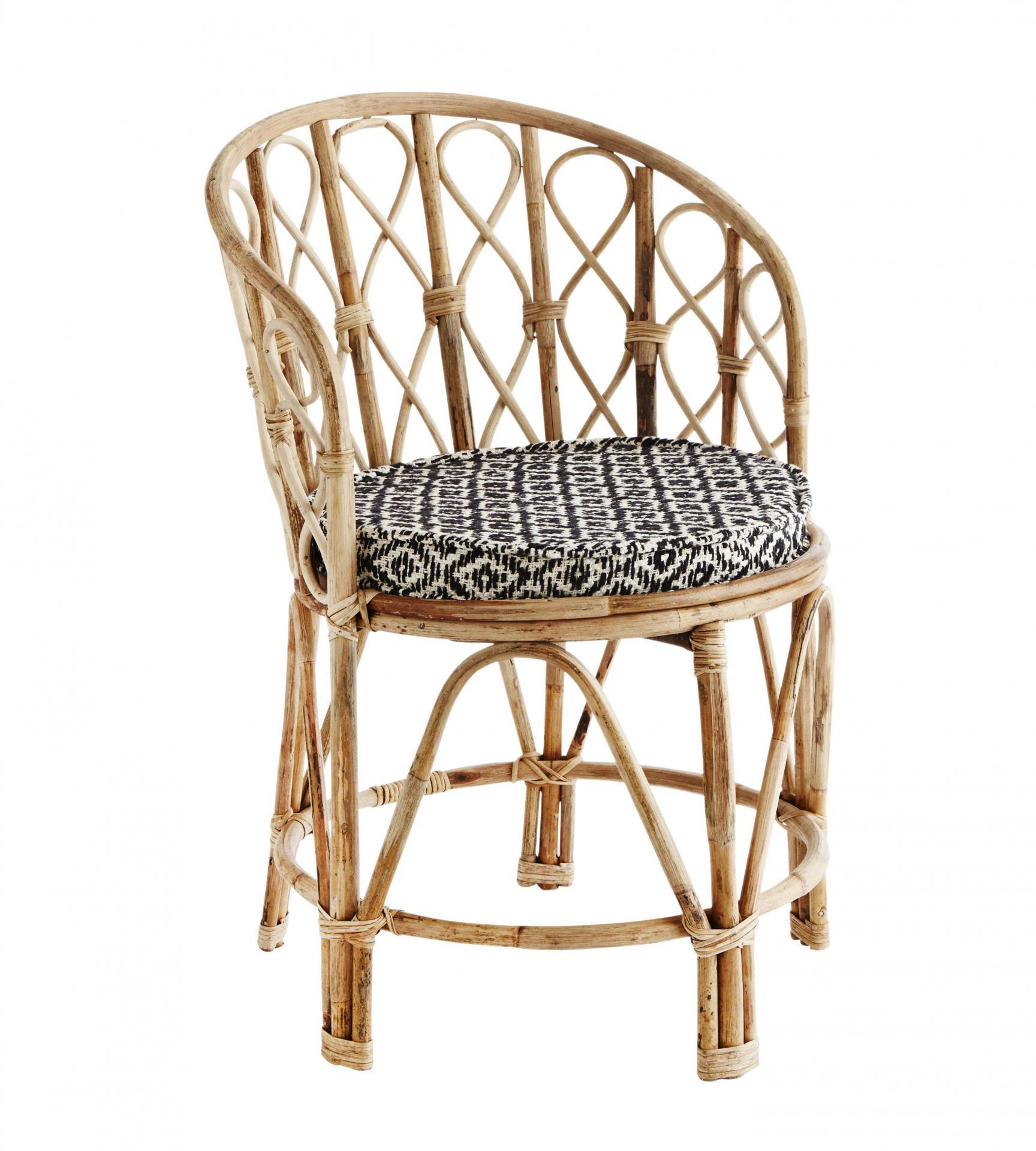 MADAM STOLTZ Židle s podsedákem Bamboo, hnědá barva, dřevo