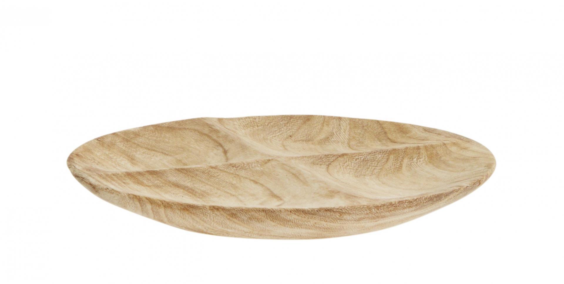 MADAM STOLTZ Dřevěný servírovací talíř Wood, hnědá barva, dřevo