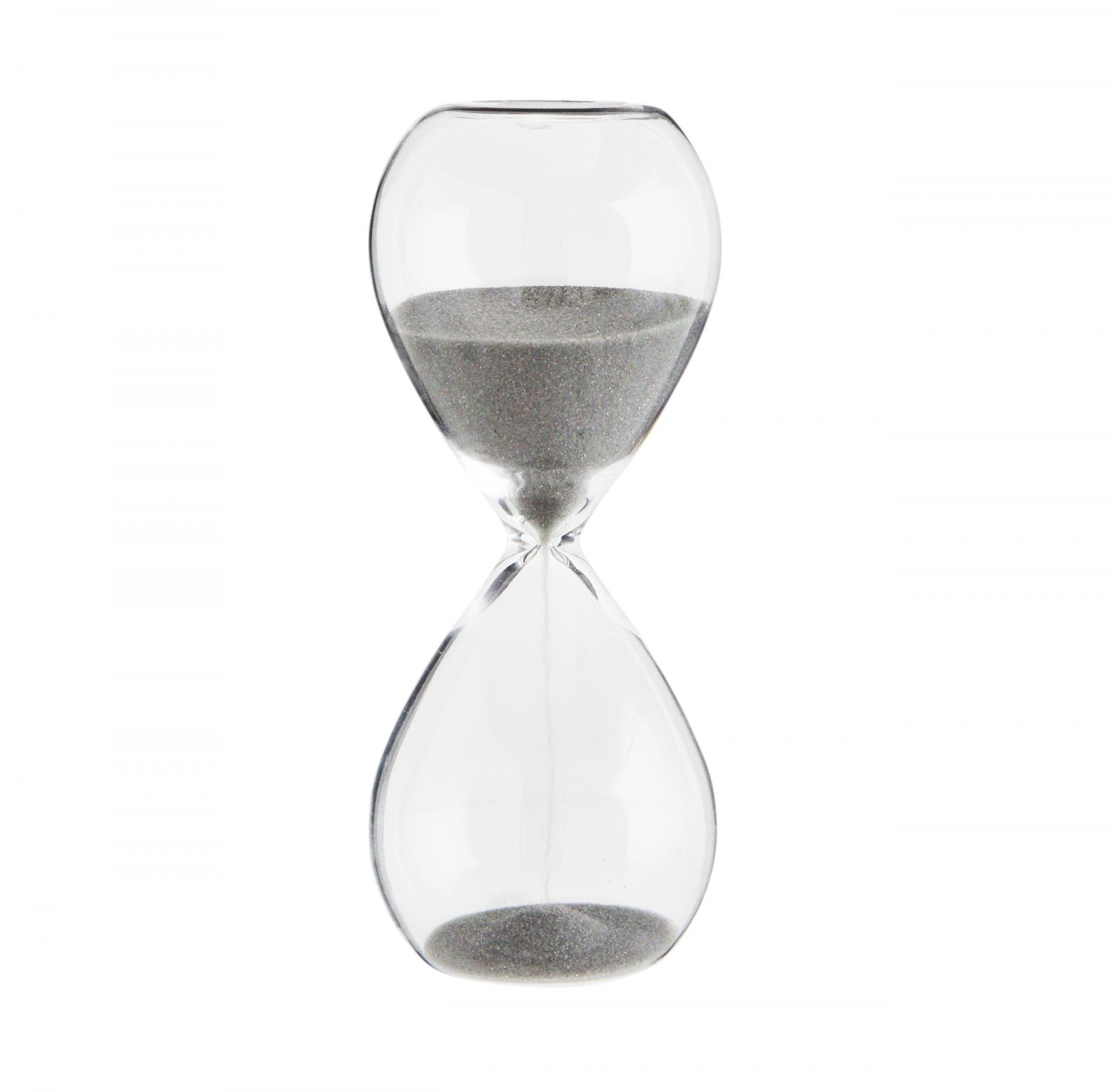 MADAM STOLTZ   Presýpacie hodiny Clear Grey 5 min 8065b6cbc14