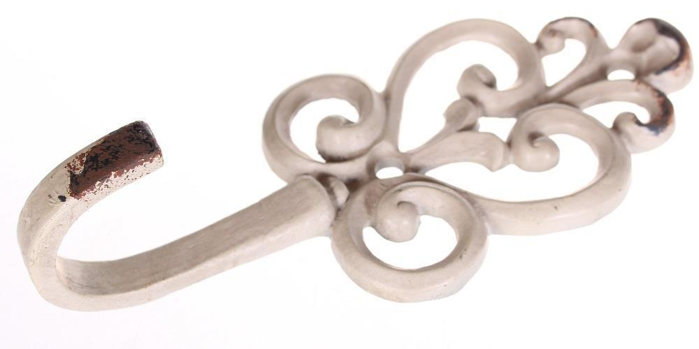 La finesse Kovový věšák Vintage, bílá barva, kov